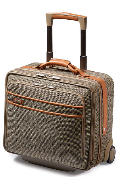 Tweed Belting Business Rolling laptop bag
