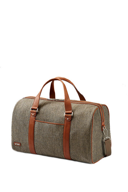 Tweed Belting Business Duffle Bag S