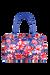Lipault Blooming Summer Weekend Bag M Flower/Pink/Blue