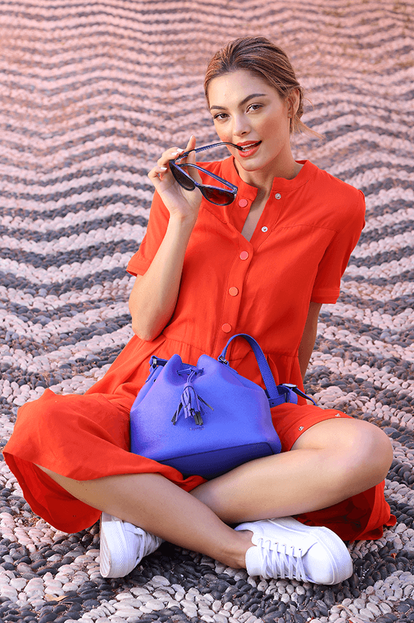 Plume Elegance Bucket Bag
