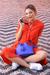 Lipault Plume Elegance Bucket Bag Exotic Blue