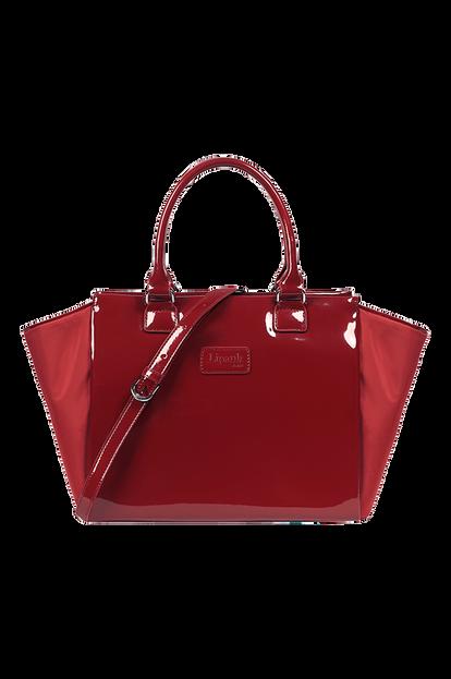 Plume Vinyle Satchel Bag M
