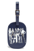Lipault Izak Zenou Collab Luggage Tag Pose/Night Blue