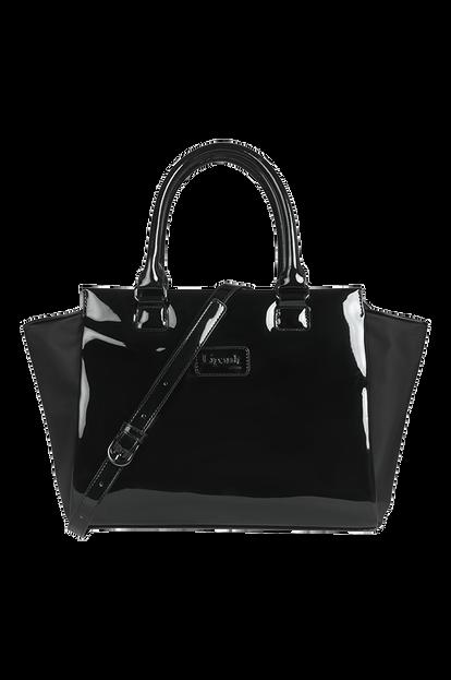 Plume Vinyle Satchel Bag S