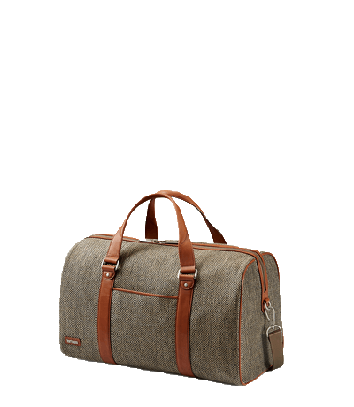 Tweed Belting Duffle Bag