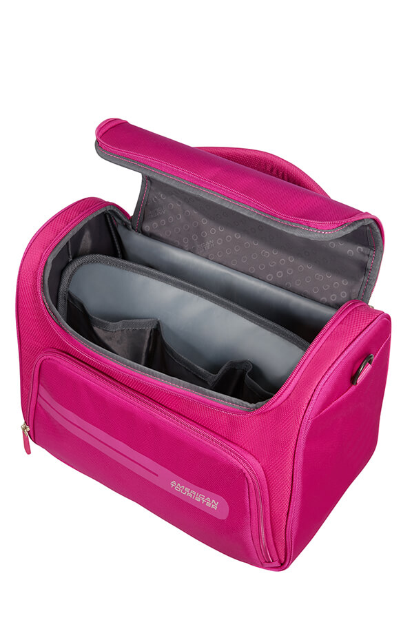 c6909ace9 American Tourister Summer Voyager Beauty case Deep Pink | Rolling ...
