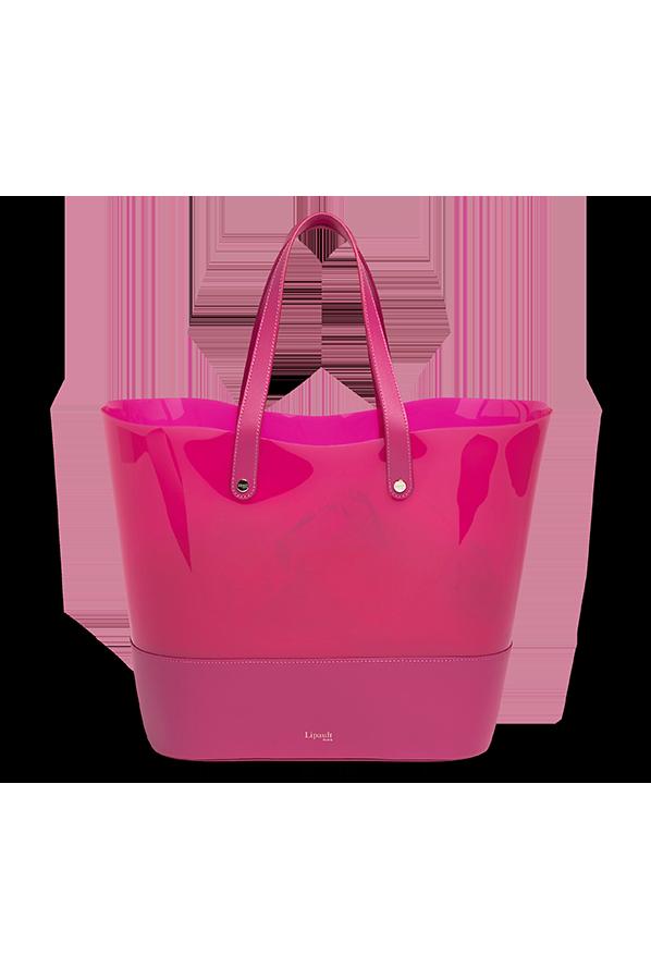 b4068184d Lipault Pop'n'gum Shopping bag Deep Fuchsia | Rolling Luggage