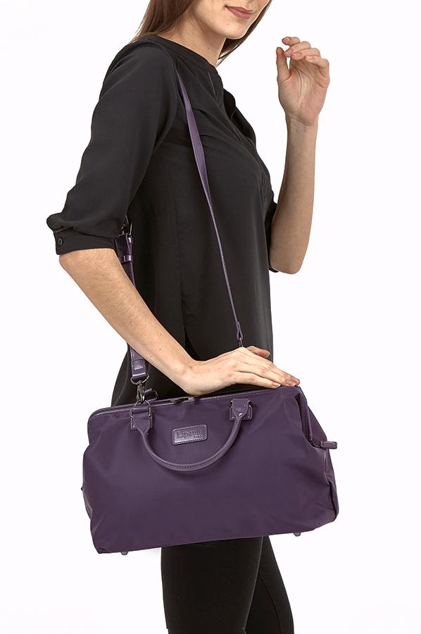 Lipault Lady Plume Bowling Bag M Purple Rolling Luggage