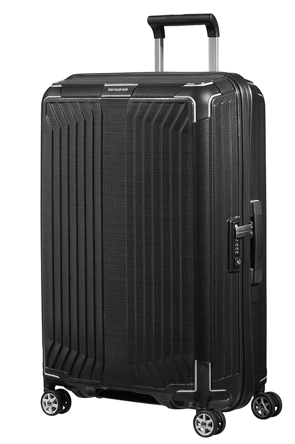 samsonite lite box spinner 4 wheels 69cm black rolling. Black Bedroom Furniture Sets. Home Design Ideas