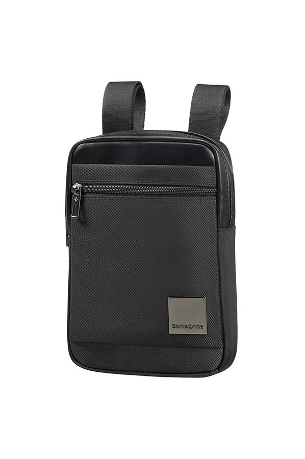 Samsonite Hip Square Crossover Bag S Black Rolling Luggage