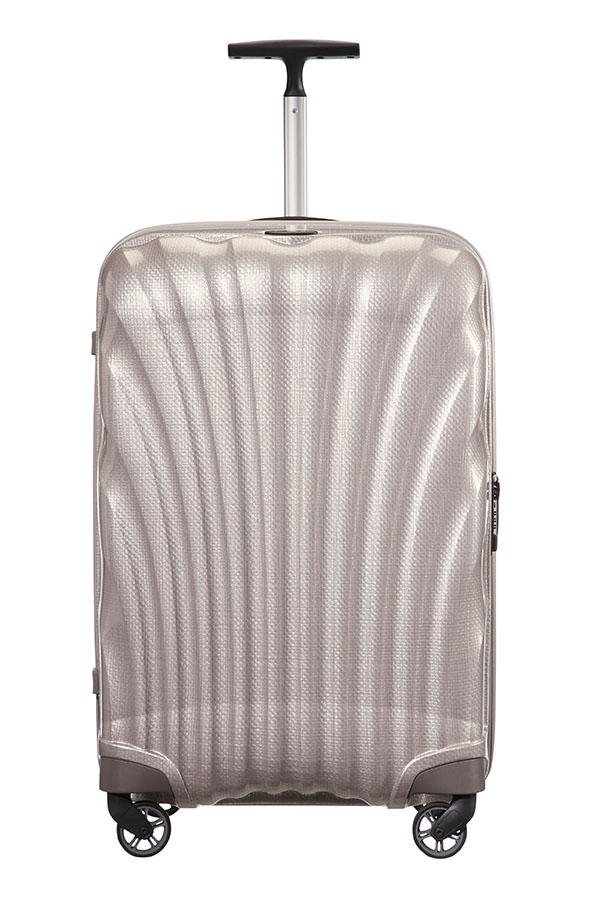 samsonite cosmolite spinner 4 wheels 55cm pearl rolling luggage