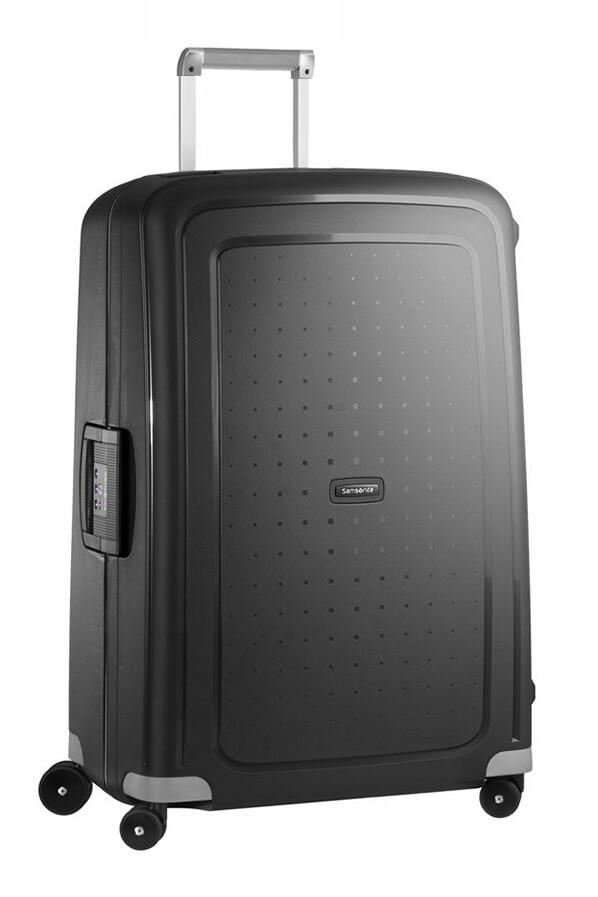 samsonite s 39 cure spinner 4 wheels 75cm black rolling luggage. Black Bedroom Furniture Sets. Home Design Ideas