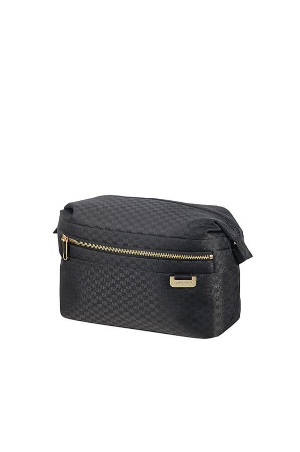 Samsonite Uplite Toiletry Bag Black Gold  3b0dc54c2f83c