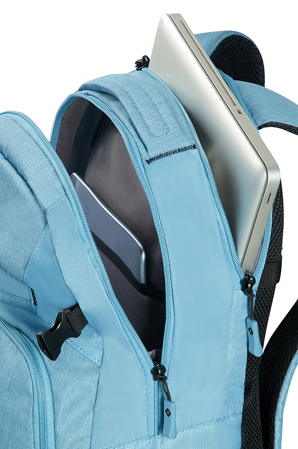 "Samsonite Rewind Laptop Backpack M 15.6"" Ice Blue"
