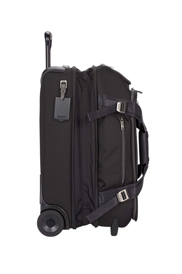 Tumi Merge Duffle With Wheels 56cm Black Contrast Rolling Luggage